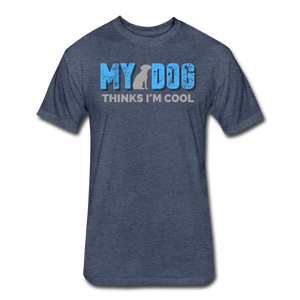 My Dog Thinks I'm Cool - Men's Cotton/Poly T-Shirt - heather navy