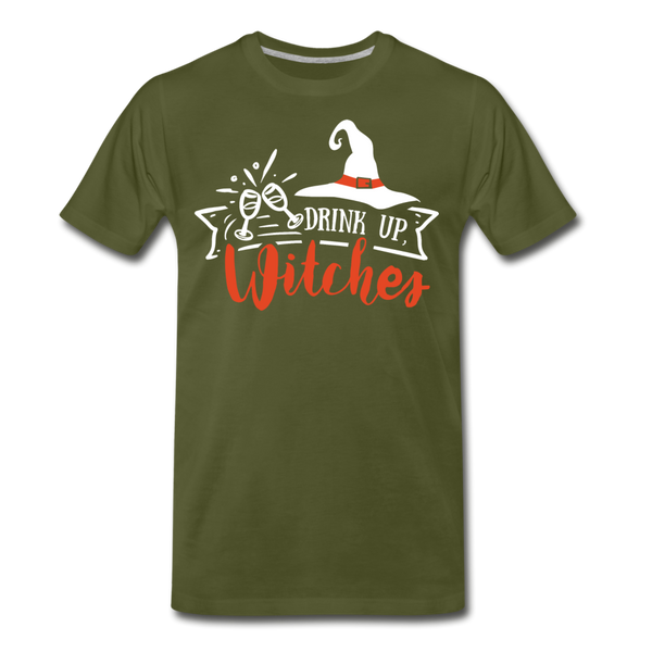 Drink Up Witches - Men's Premium T-Shirt - olive green