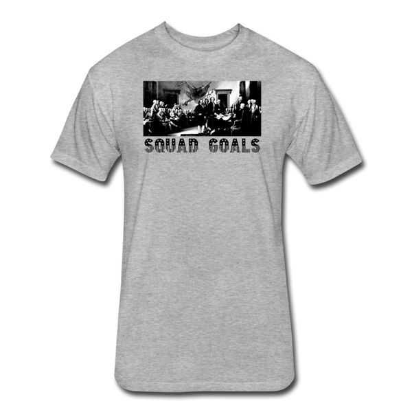 Squad Goals - Independence - Men's Cotton/Poly T-Shirt - heather gray
