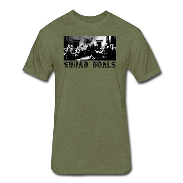 Squad Goals - Independence - Men's Cotton/Poly T-Shirt - heather military green
