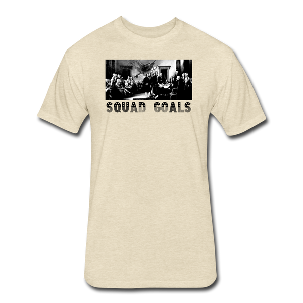 Squad Goals - Independence - Men's Cotton/Poly T-Shirt - heather cream