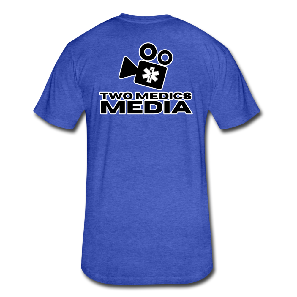 Two Medics media Cotton/Poly T-Shirt by Next Level - heather royal