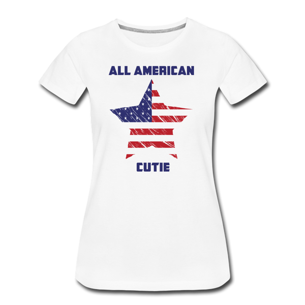 All American Cutie - Women's Premium T-Shirt - white