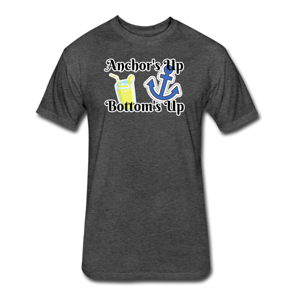 Anchor's Up Bottom's Up - Cotton/Poly T-Shirt - heather black