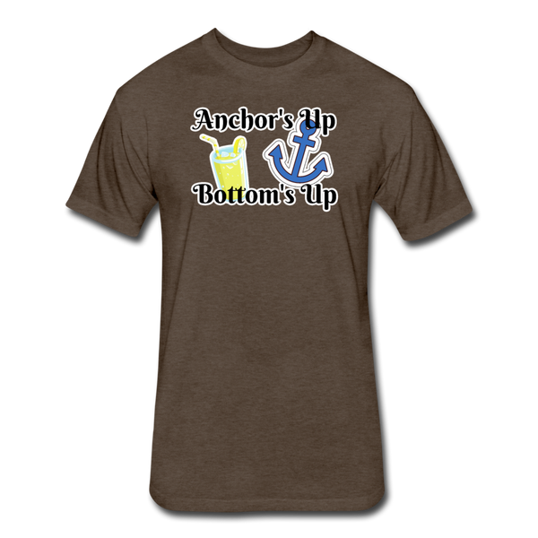 Anchor's Up Bottom's Up - Cotton/Poly T-Shirt - heather espresso