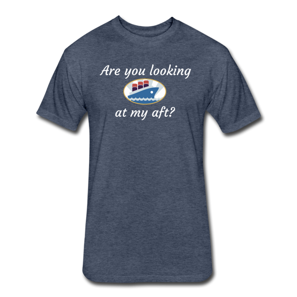 Looking At My Aft - Cotton/Poly T-Shirt - heather navy