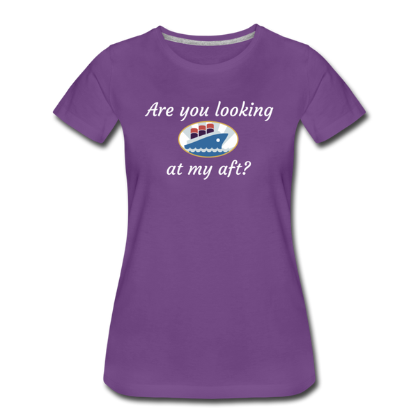 Looking At My Aft - Women's Premium T-Shirt - purple