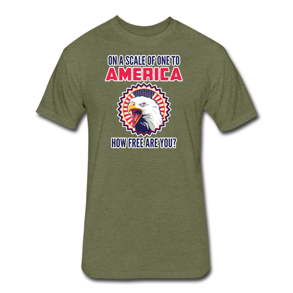 How Free Are You - Men's Cotton/Poly T-Shirt - heather military green