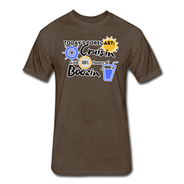 Cruisin' With a Chance of Boozin' - Cotton/Poly T-Shirt - heather espresso