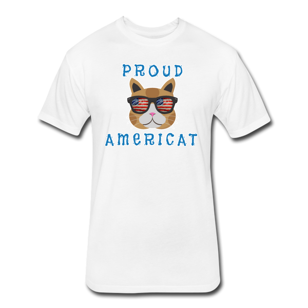 Proud Americat - Men's Fitted Cotton/Poly T-Shirt - white