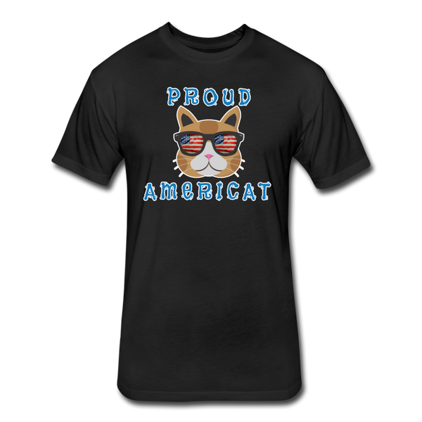 Proud Americat - Men's Fitted Cotton/Poly T-Shirt - black