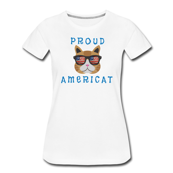 Proud Americat - Women's Premium T-Shirt - white