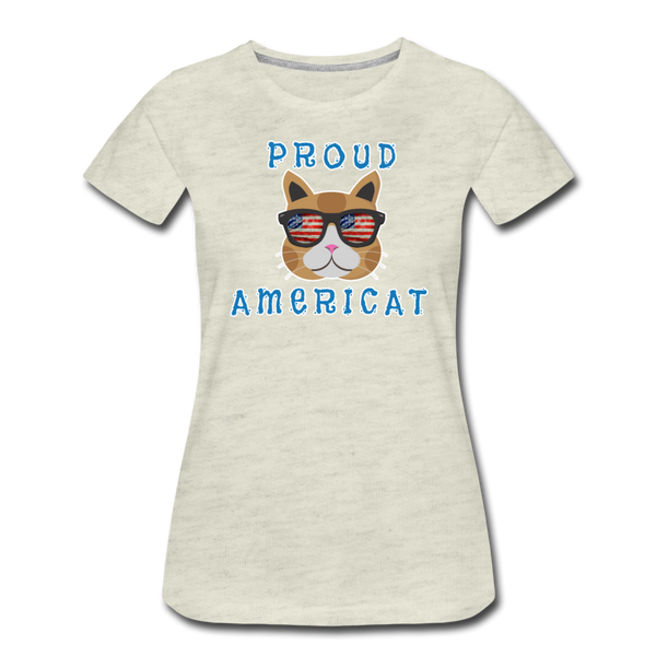 Proud Americat - Women's Premium T-Shirt - heather oatmeal