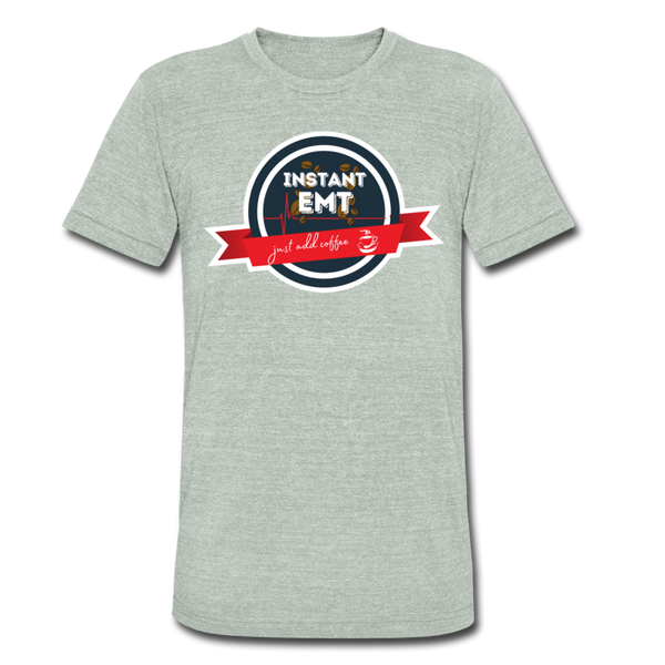 EMT, Just Add Coffee - Men's Tri-Blend T-Shirt - heather gray