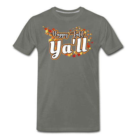Happy Fall Ya'll - Men's Premium T-Shirt - asphalt gray