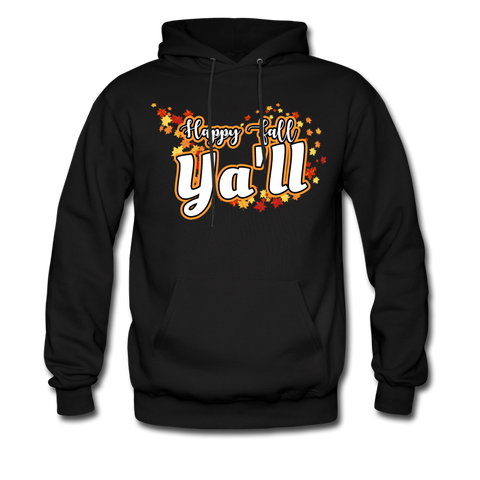 Happy Fall Ya'll - Men's Hoodie - black