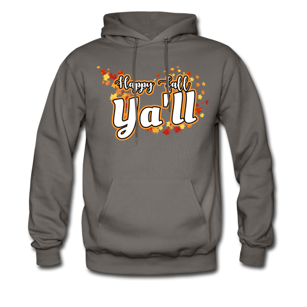Happy Fall Ya'll - Men's Hoodie - asphalt gray