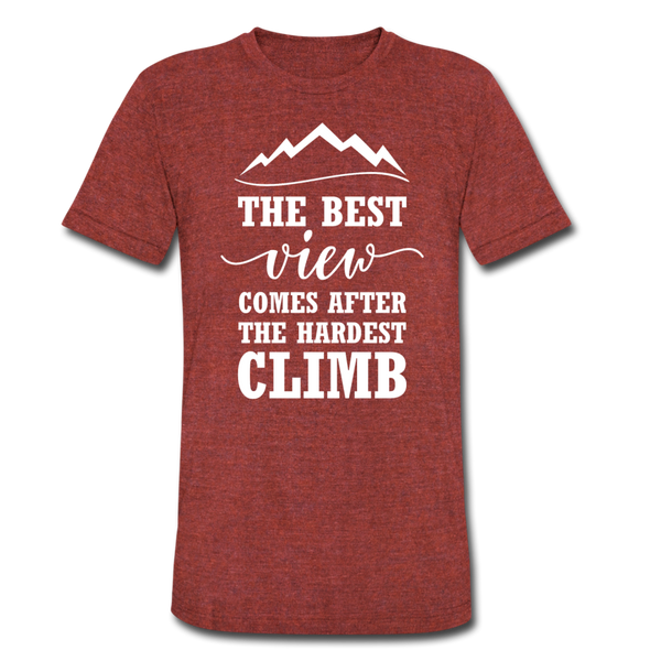 The Best View Comes After The Hardest Climb - heather cranberry
