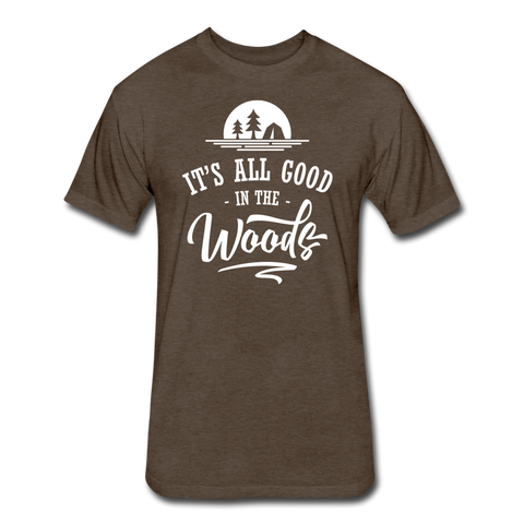 It's All Good In The Woods - Cotton/Poly T-Shirt - heather espresso