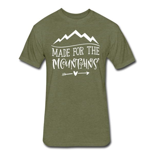 Made For The Mountains - Cotton/Poly T-Shirt - heather military green