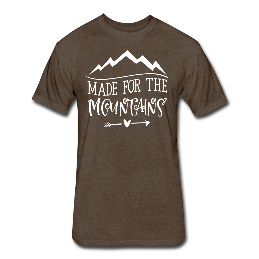 Made For The Mountains - Cotton/Poly T-Shirt - heather espresso