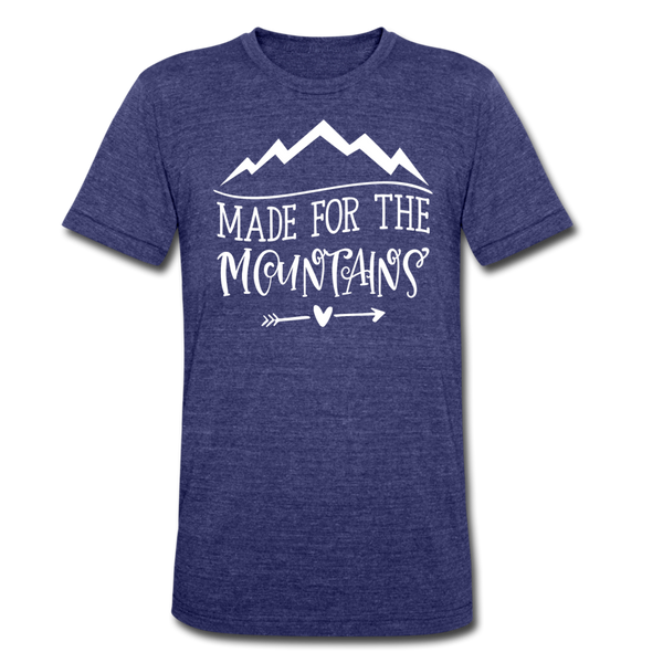 Made For The Mountains - Tri-Blend T-Shirt - heather indigo