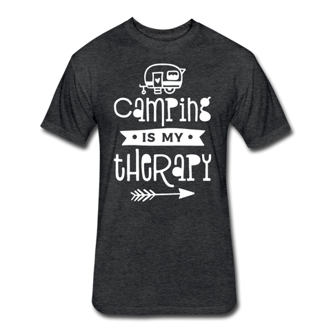 Camping Is My Therapy - Cotton/Poly T-Shirt - heather black