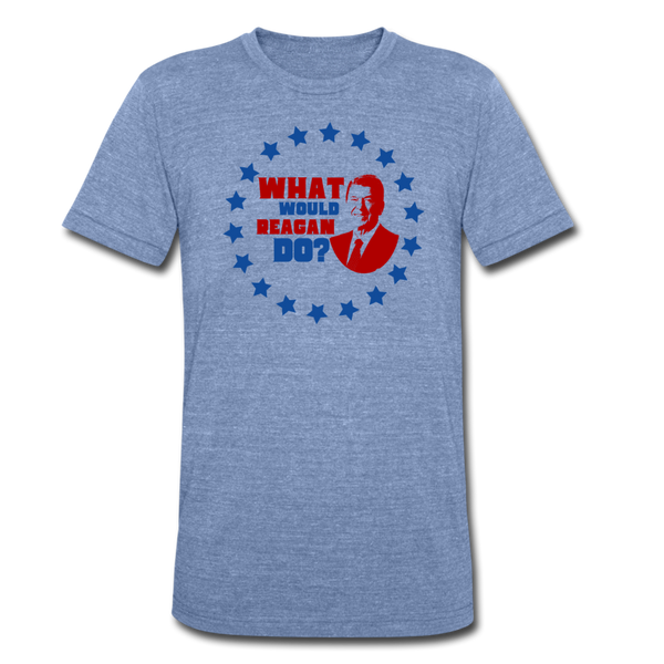 What Would Reagan Do - Tri-Blend T-Shirt - heather Blue