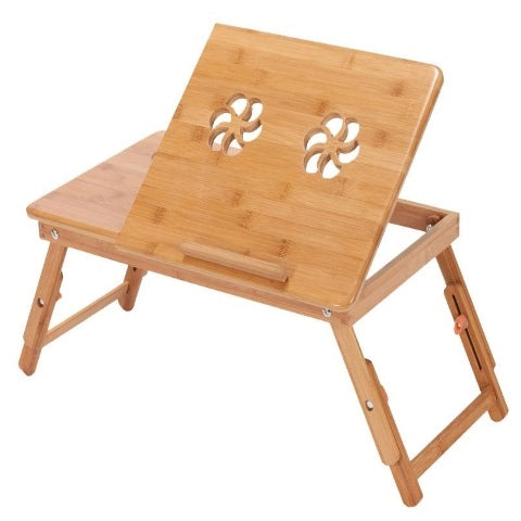 Wooden Laptop Table with Potable Cooling Fan