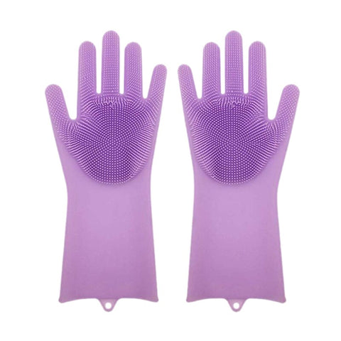 Dishwashing Silicone Gloves With Scrubber Buy Online @ Best Price in Pakistan