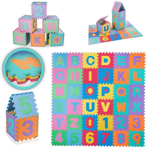 36PCS Eva Puzzle Play Mat Set Foam Mats ABC & 0 to 9 Online @ Best Price in Pakistan