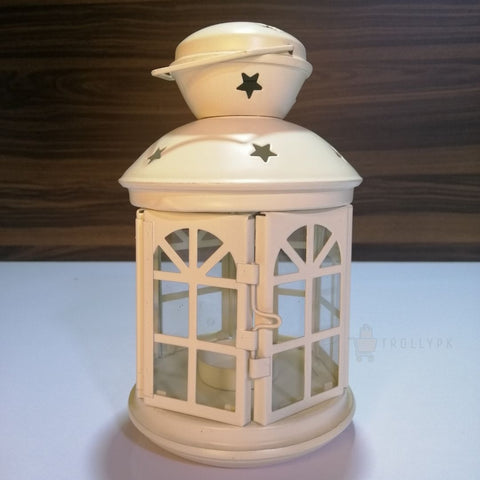 Modern Cage Style Metal Lantern With Candle Holder Online @ Best Price in Pakistan