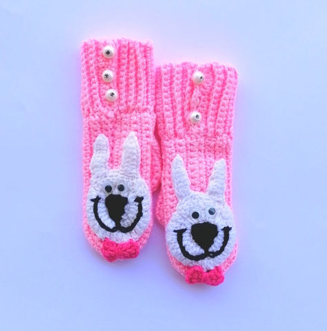Hand Knitted Wool Winter Warm Mittens Cute Cat Online @ Best Price in Pakistan