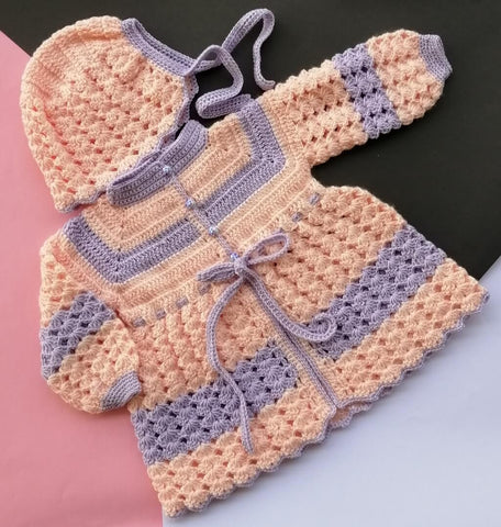 Hand Knitted Newborn Baby Sweater & Cap Pink & Cute Blue Online @ Best Price in Pakistan
