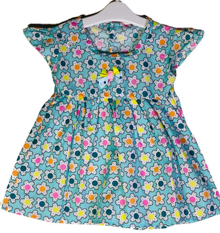 Newborn Baby Girl Frock - Flowers Printed Online @ Best Price in Pakistan
