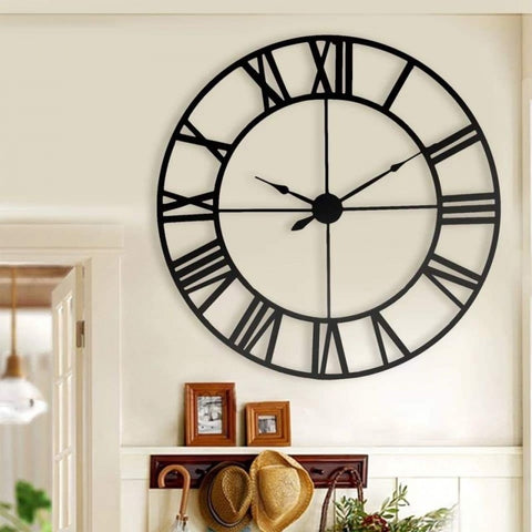 Metal Gear Wall Clock Black - 18*18 Inches Online @ Best Price in Pakistan