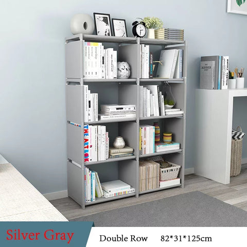 Double Row 4 Layer Portable Book Shelf Folding Racks Online @ Best Price in Pakistan