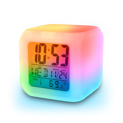 Alarm Clock with 7 Colour Changing Digital Display Online @ Best Price in Pakistan