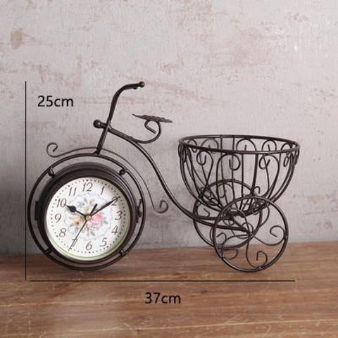 Basket Cycle Table Clock Decorative Table Clock Online @ Best Price in Pakistan