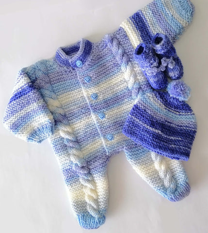 Hand Knitted Newborn Baby Romper Blue Online @ Best Price in Pakistan