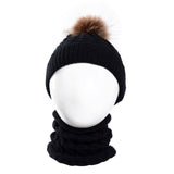 Toddler Baby Girl Boy Winter Warm Knitted Wool Cap+Scarf Set for 0-2 Year Kids