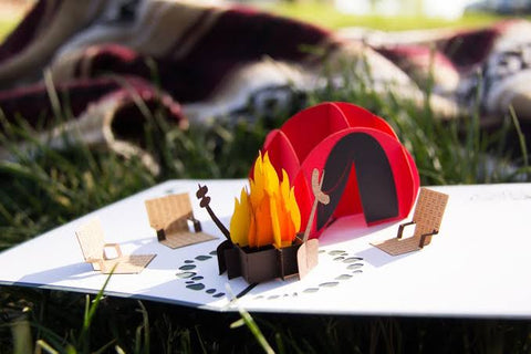 Camping Trip Handmade 3D Pop Up Card Online @ Best Price in Pakistan