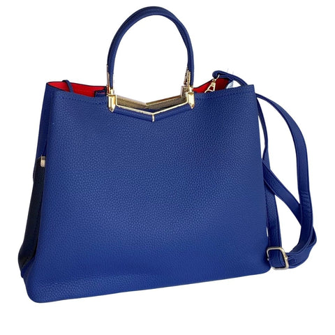 Blue White Fashionable Ladies Handbag With Clutch Online @ Best Price in Pakistan