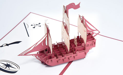 Pirate Ship Handmade 3D Pop Up Card Online @ Best Price in Pakistan