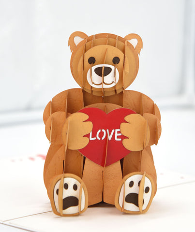 Love Bear Handmade 3D Pop Up Card Online @ Best Price in Pakistan