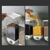 1PC Wall Mounted Rice Grain Cereal Dispenser Kitchen Storage Tank Online @ Best Price in Pakistan