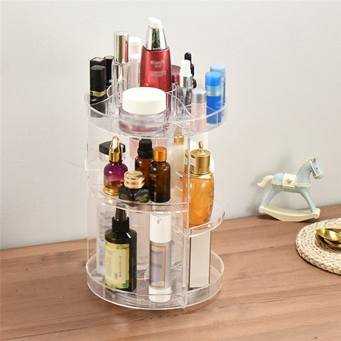 360 Degree Rotating Makeup Cosmetic Organizer Online @ Best Price in Pakistan