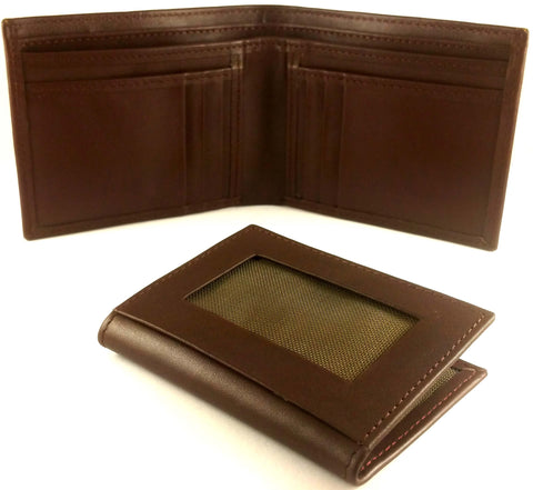 Men Leather Wallets With Card Holder - Brown / Black