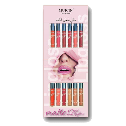 MUICIN - Matte Lip Gloss 12 Shades Kit Online @ Best Price in Pakistan