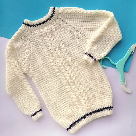 Hand Knitted Sweater White Pullover Online @ Best Price in Pakistan